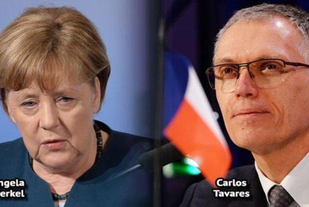 Merkel, PSA Başkanı Tavares'le telefonda görüştü