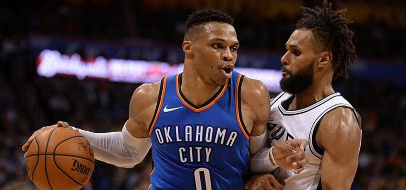 WESTBROOK TRIPLE-DOUBLE LIFTS THUNDER OVER SPURS