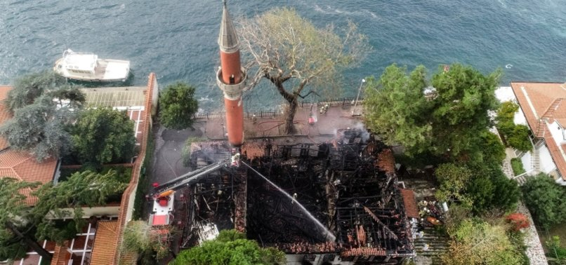TURKISH PRESIDENT SADDENED BY FIRE AT VANIKÖY MOSQUE