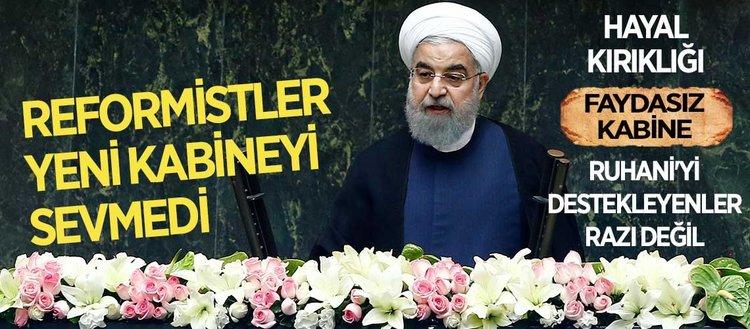 Reformistler İranın yeni kabinesinden hoşnut olmadı