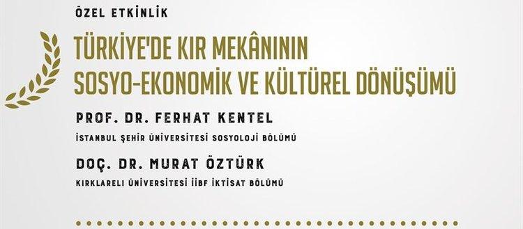 Türkiye'de kır mekânının sosyo-ekonomik ve kültürel dönüşümü