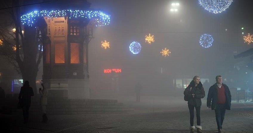 Saraybosnada hava kirliliği normal seviyenin üç kat üstünde