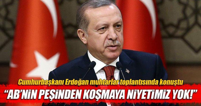 Cumhurbaşkanı Recep Tayyip Erdoğan: Tek taraflı adım atma dönemi bitti