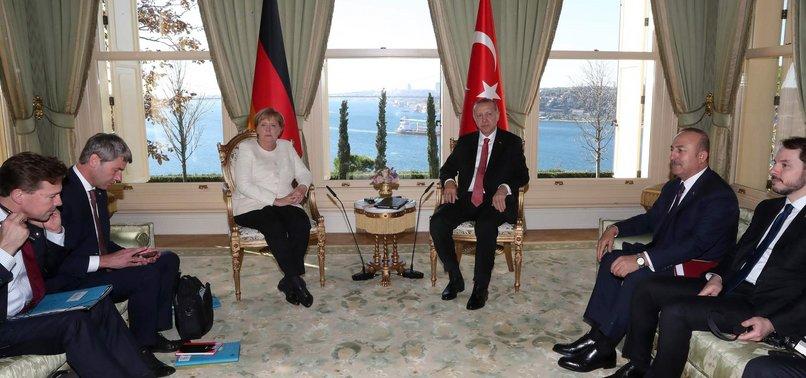 ERDOĞAN MEETS GERMAN, RUSSIAN, FRENCH LEADERS AHEAD OF SYRIA SUMMIT
