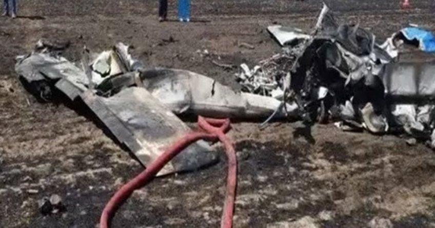 Tekirdağ'da uçak düştü!