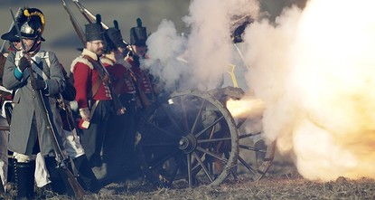 pMore than a thousand history buffs gathered in the Czech Republic on Saturday for a re-enactment of the Battle of Austerlitz, in which Napoleon crushed the Austrian and Russian armies in...