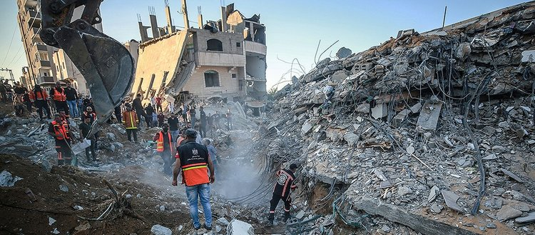İsrail'in Gazze Şeridi'ne düzenlediği saldırılarda şehit sayısı 120'ye yükseldi