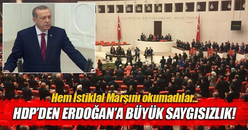 Meclis'te Cumhurbaşkanı Erdoğan'a saygısızlık