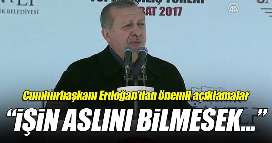 Cumhurbaşkanı Erdoğan Gaziantep'te toplu açılış töreninde konuştu