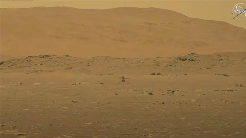 NASA, MARS'A GÖNDERDİĞİ MİNİ HELİKOPTER INGENUİTY'Yİ UÇURDU