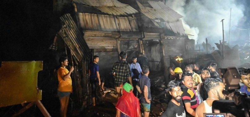 HUGE FIRE GUTS SHANTIES, INJURES 4 IN BANGLADESH