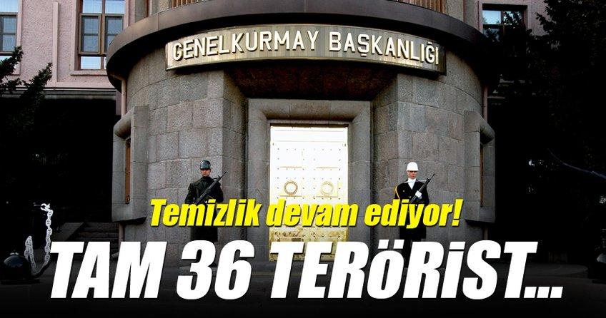 Son dakika haberi: 36 terörist etkisiz hale getirildi