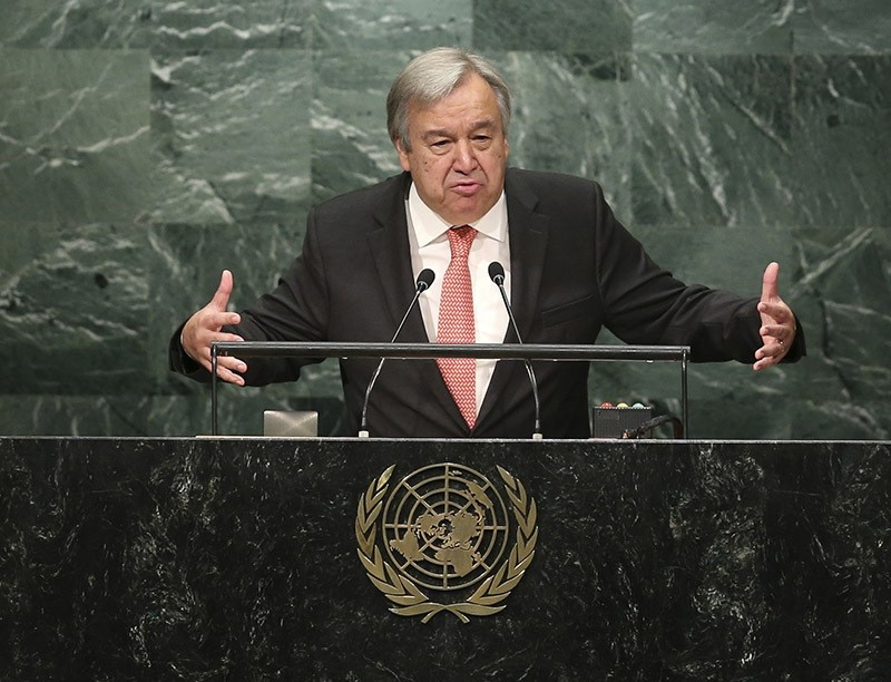 In this Oct. 13, 2016 file photo, Antonio Guterres of Portugal, Secretary-General designate of the United Nations, speaks during his appointment at U.N. headquarters. (AP Photo)