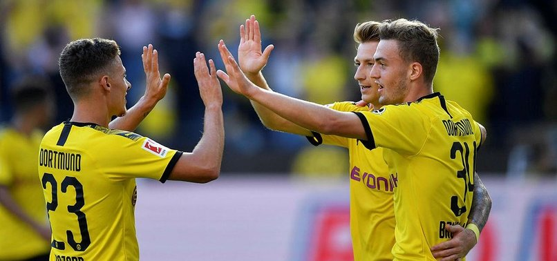 DAZZLING DORTMUND CRUSH LEVERKUSEN TO GO BACK INTO TOP SPOT