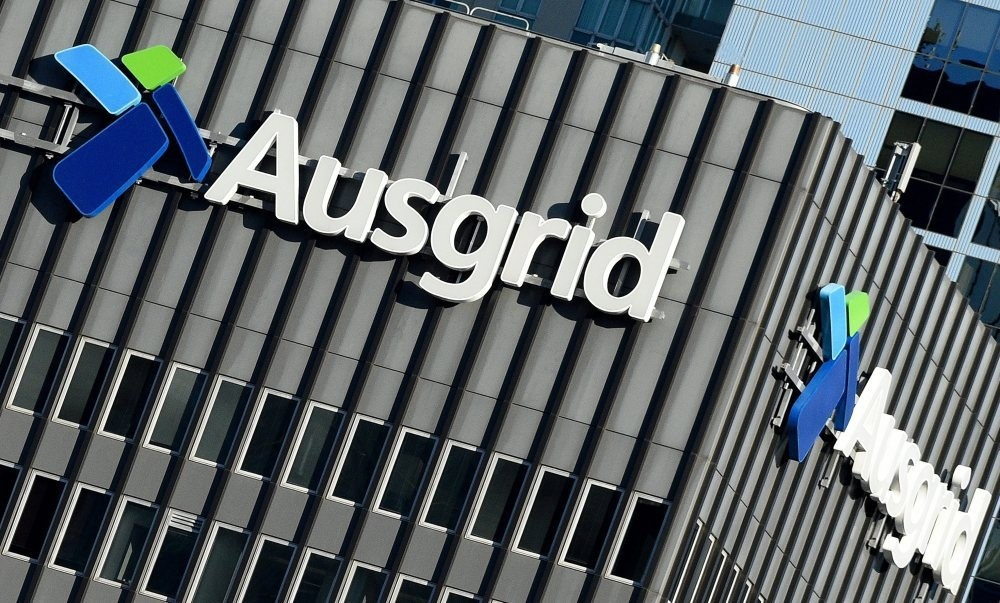 An exterior view of the Ausgird headquarters in Sydney, New South Wales. (EPA Photo)