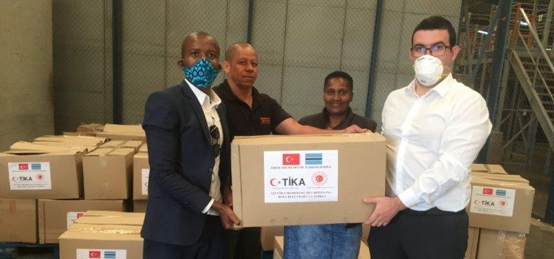 TURKEYS AID AGENCY TIKA DISTRIBUTES FOOD PACKAGES IN BOTSWANA