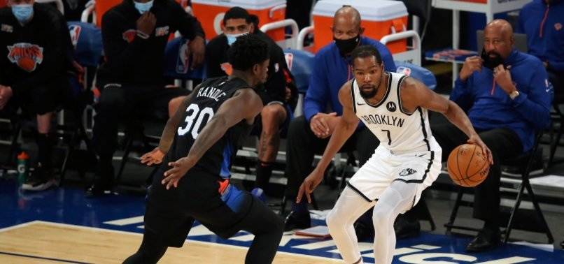 DURANT, NETS WIN WHILE SHORT-HANDED WITH HARDEN DEAL PENDING