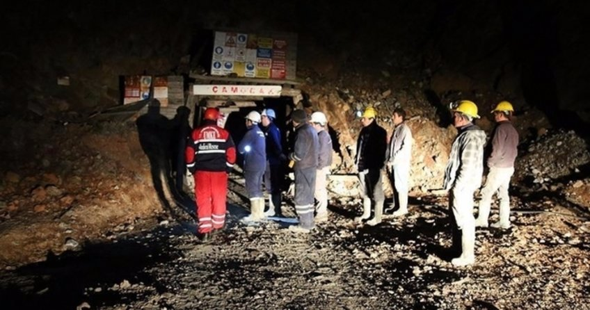 Denizli'de Acıpayam ilçesindeki maden ocağında göçük