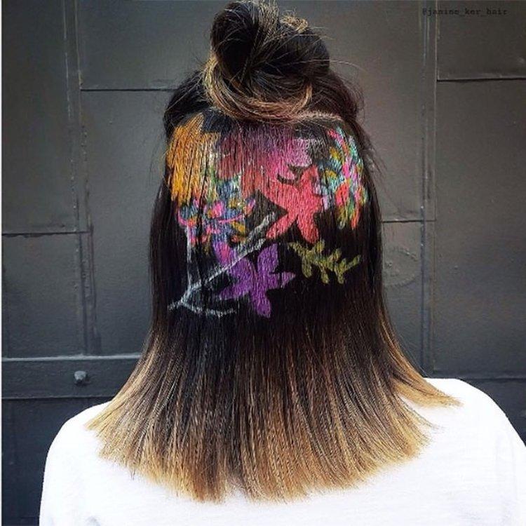 Saçlarda 'baskı' modası