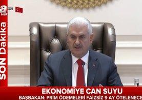 Başbakan Binali Yıldırım Çankaya Köşkü'nde ekonomik tedbirleri açıklıyor