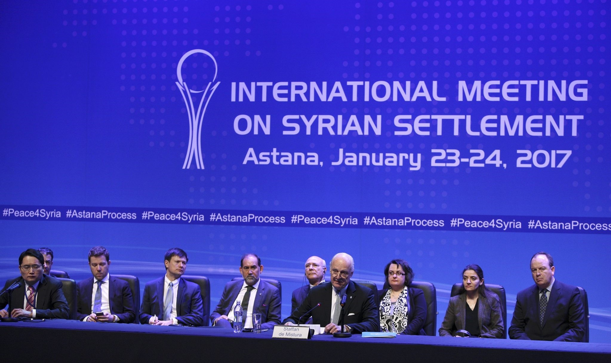 U.N. special envoy for Syria Staffan de Mistura attends a news conference following Syria peace talks in Astana, Kazakhstan January 24, 2017. (REUTERS Photo)