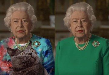 Kraliçenin yeşil elbisesi caps'lere konu oldu