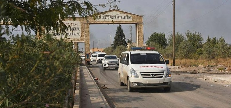 YPG/PKK TERRORISTS FLEE SYRIA'S RASULAYN CITY BY CARS