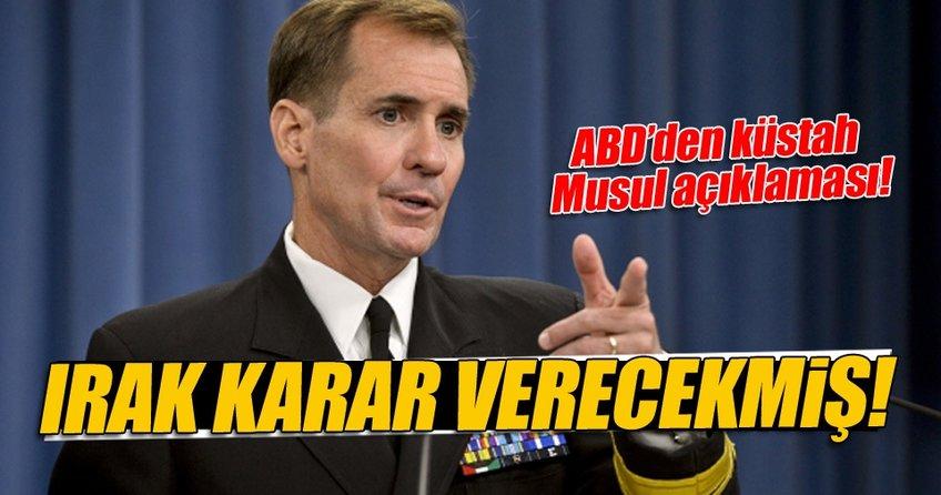 ABD'den Musul operasyonu için küstah açıklama