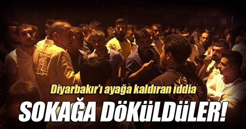 Diyarbakır'ı sokağa döken iddia!