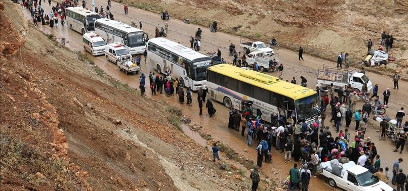 MORE THAN 30,000 EVACUATED FROM SYRIA'S HOMS