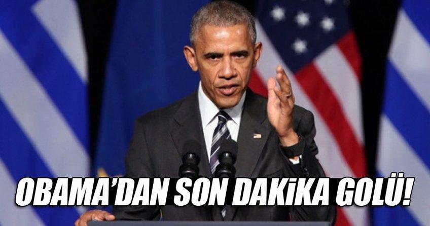 Obama'dan son dakika golü