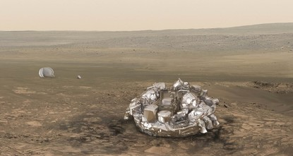 pA tiny European craft despatched to Mars for a trial touchdown Wednesday crashed into pieces on the Red Planet's surface instead, a European Space Agency mission manager told AFP on...