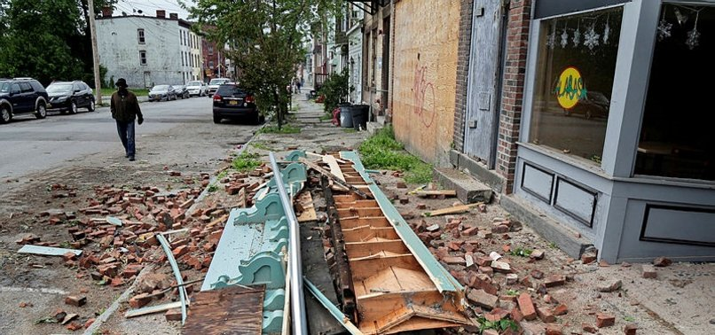 CLEANUP UNDERWAY A DAY AFTER POWERFUL STORMS POUND NORTHEAST, US