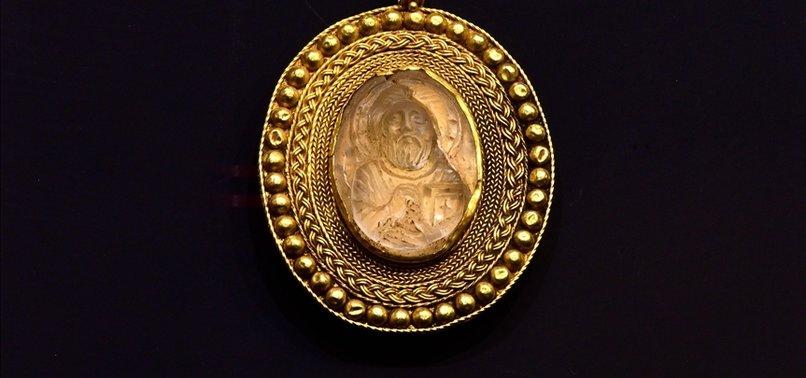 ANCIENT MEDALLION DISPLAYED AT ÇORUM MUSEUM