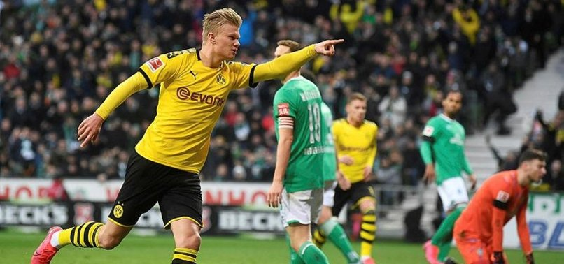 HAALAND SCORES WINNER TO LIFT DORTMUND TO 2ND IN BUNDESLIGA