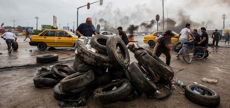 IRAQI PROTESTERS CUT ROADS TO OILFIELDS IN BASRA