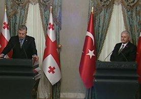 Başbakan Yıldırım ve Gürcistan Başbakanı Kvirikaşvili ortak basın toplantısı düzenledi