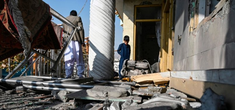 MULTIPLE ROCKETS HIT AFGHAN CAPITALS COMMERCIAL AREA