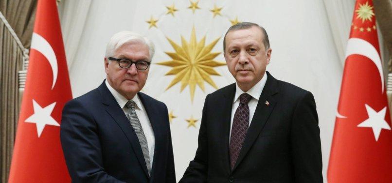 TURKISH, GERMAN PRESIDENTS TALK BILATERAL TIES, AFGHANISTAN, MIGRATION ISSUE