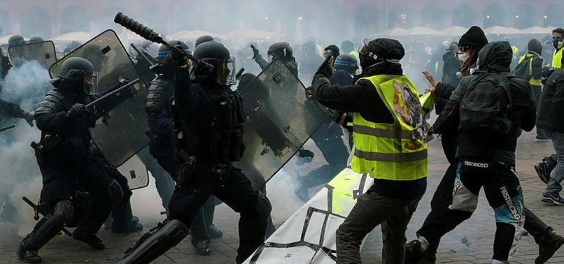 102 YELLOW VESTS ARRESTED AS PROTESTS CONTINUE IN FRANCE