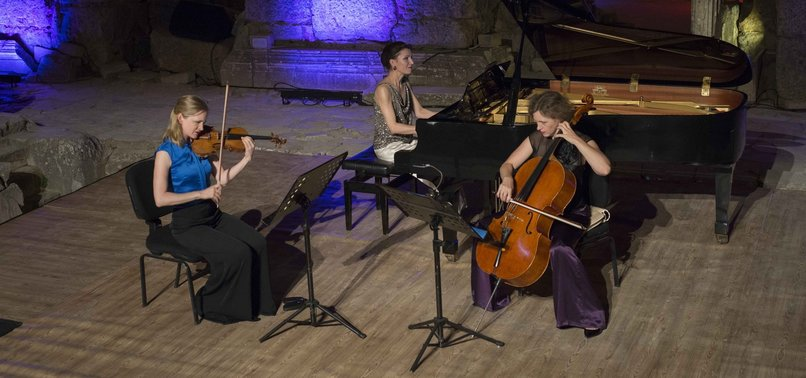 GERMAN CHAMBER MUSICIANS PLAY IN ANCIENT AEGEAN CITY