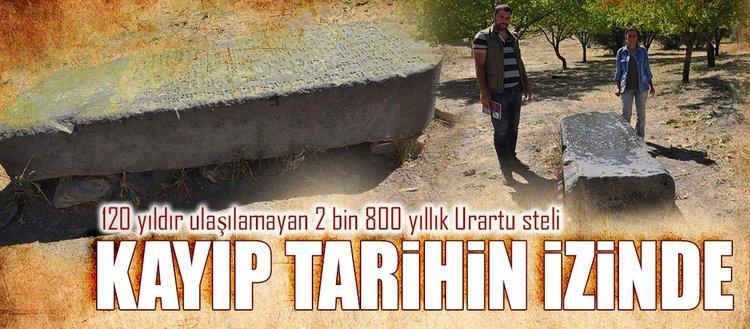 120 yıldır kayıp olan Urartu steli bulundu