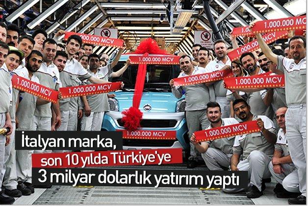 İtalyan marka, son 10 yılda Türkiye'ye 3 milyar dolarlık yatırım yaptı