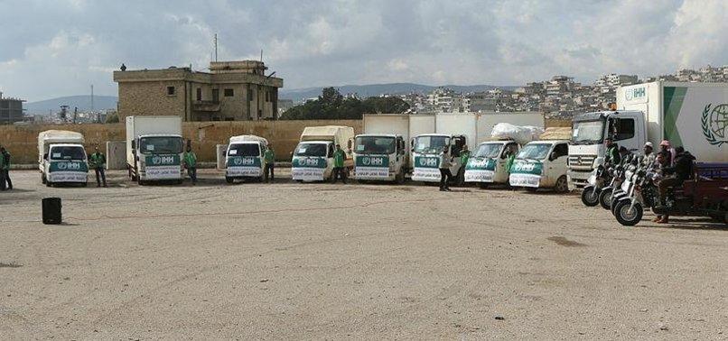 TURKISH CHARITY SENDS AID CONVOY TO IDLIB, SYRIA