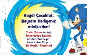 Haydi Sonic Boom ile İlgili Anketimize Katıl, Soruları Yanıtla  Birbirinden Sürpriz Hediyeler Kazan!