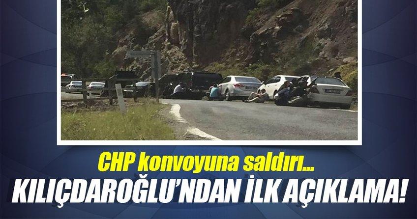 Kılıçdaroğlu'nun konvoyuna ateş açıldı.
