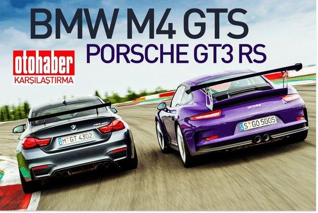 KARŞILAŞTIRMA · BMW M4 GTS, PORSCHE GT3 RS