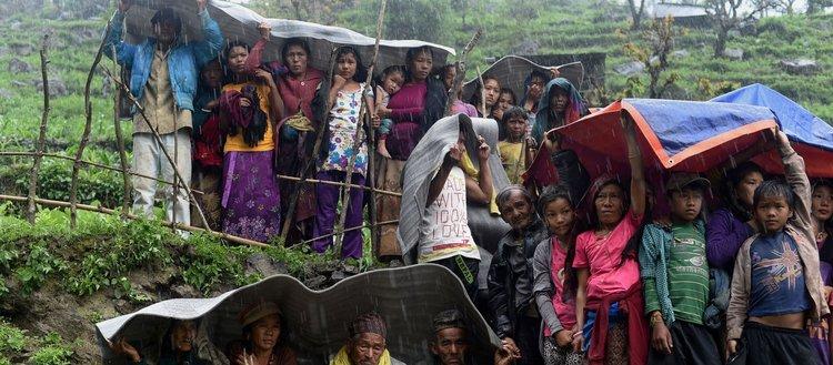 Nepal'de heyelan 49 can aldı