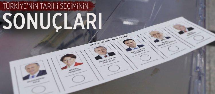 Türkiye'nin tarihi seçiminin sonuçları