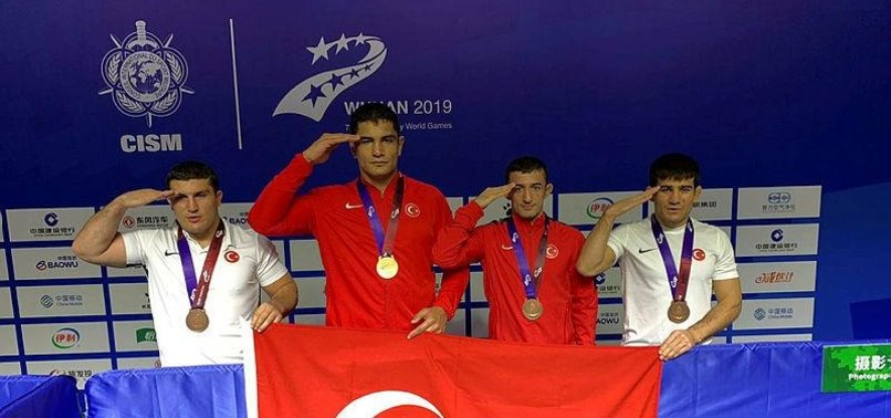 TURKISH WRESTLERS WIN 4 MEDALS AT MILITARY WORLD GAMES